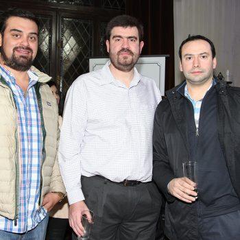 Hector Mansilla, Alberto Smoljanovic y Rodrigo Cantin