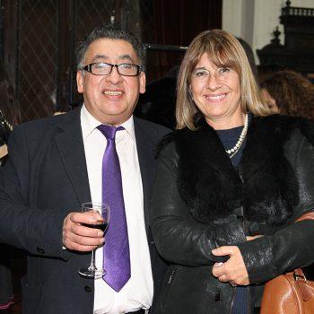 Estilista Daniel Fernández y Mónica Figueroa